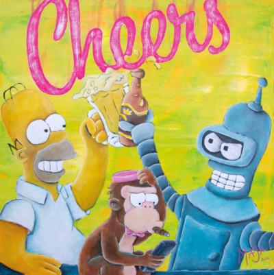 cheers, art, comic, kunst, austria, carinthia, mario stroitz, mario maja stroitz, artmaja, popart, comitcart, simpsons, futurama