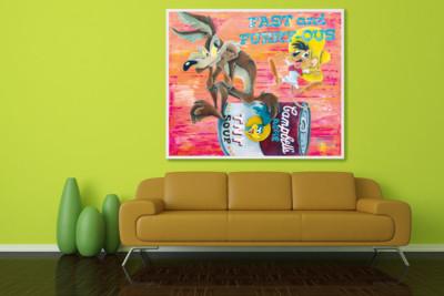 art, comic, kunst, austria, carinthia, mario stroitz, mario maja stroitz, artmaja, popart, comicart, looneytunes, speedy gonzales, coyote, campbells soup