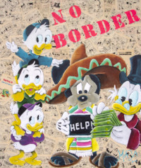 noborder, no border, disney, mickeymouse, artmaja, mario maja stroitz, popart, comitcart, contemporaryart, klagenfurt, artist, art, mexico, usa