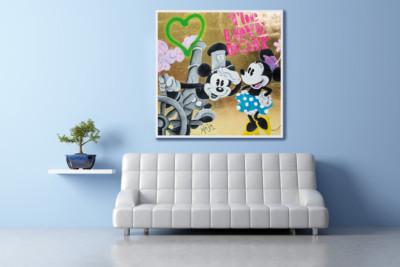 love boat, disney, mickey mouse, minnie mouse, heart, love, artmaja, mario maja stroitz, popart, comitcart, contemporaryart, klagenfurt, artist, art, kunst