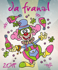 getränke bayer, wein, fb,artmaja, mario maja stroitz, comicart, comic, cartoon, maskottchen, dafranzl, franzbayer, clown