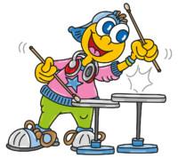 kinderhotels europa, kinderhotel, smiley, artmaja, mario maja stroitz, comicart, comic, cartoon, maskottchen, familie, urlaub, trommel