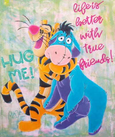 art, comic, kunst, austria, carinthia, mario maja stroitz, artmaja, popart, comic art, comicart, klagenfurt, hug me, winnie pooh