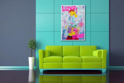 art, comic, kunst, austria, carinthia, mario maja stroitz, artmaja, popart, comic art, comicart, klagenfurt, roger rabbit, rabbit, toon, love bomb