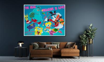 art, comic, kunst, austria, carinthia, mario maja stroitz, artmaja, popart, comic art, comicart, klagenfurt, spongebob, dagobertduck, love