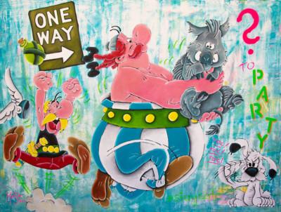 art, comic, kunst, austria, carinthia, mario maja stroitz, artmaja, popart, comic art, comicart, klagenfurt, asterix. obelix, idefix, party