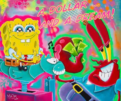 art, comic, kunst, austria, carinthia, mario maja stroitz, artmaja, popart, comic art, comicart, klagenfurt, spongebob, dollar, mrkrabs, usa, fun