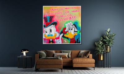 art, comic, kunst, austria, carinthia, mario maja stroitz, artmaja, popart, comic art, comicart, klagenfurt, kunst, kunstgalerie, dagobertduck, pop-art, money